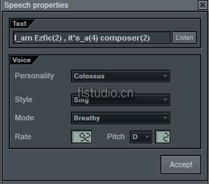 flstudio语音合成器Speech Synthesizer教程