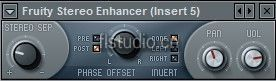 flstudio立体声效果器Fruity Stereo Enhancer教程