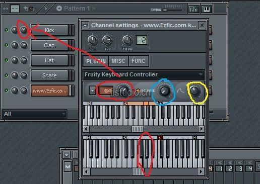 FL Studio 键盘自动化控制器Fruity Keyboard Controller教程